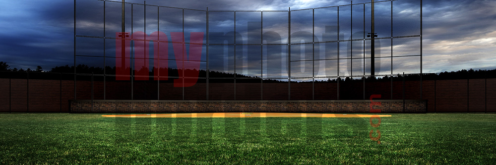 DIGITAL BACKGROUND - HOMETOWN BASEBALL - PANORAMIC