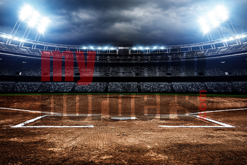 DIGITAL BACKGROUND - AMERICAN SOFTBALL - HORIZONTAL
