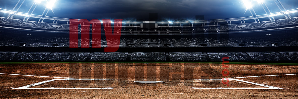 DIGITAL BACKGROUND - AMERICAN SOFTBALL - PANORAMIC