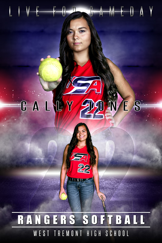PLAYER BANNER PHOTO TEMPLATE - GAME ON - PHOTOSHOP SPORTS TEMPLATE