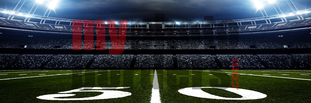DIGITAL BACKGROUND - AMERICAN FOOTBALL - PANORAMIC