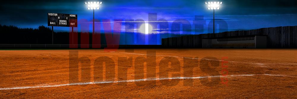 Ball Field Digital Sports Background