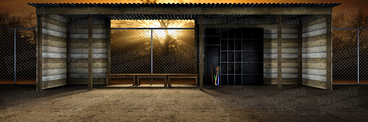 Baseball Dugout Digital Sports Background
