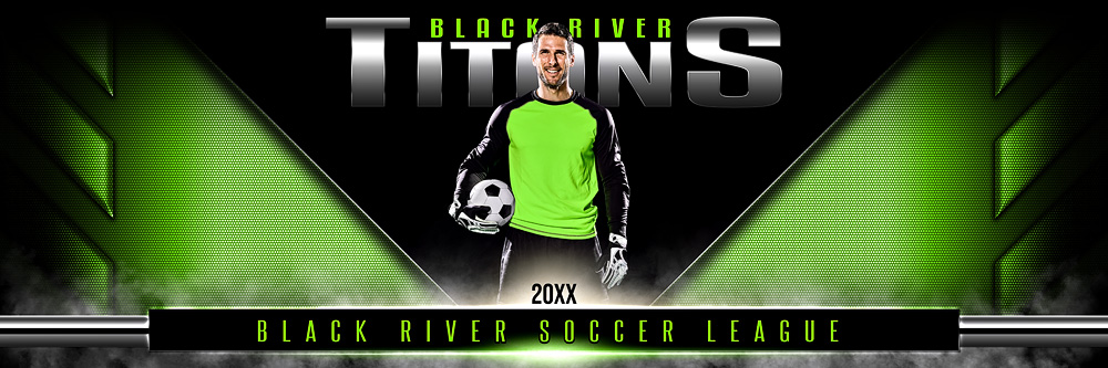 Panoramic Team Banner Photoshop Sports Template - Double Take