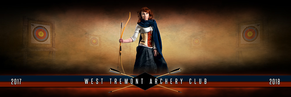 Panoramic Team Banner Photo Template For Archery - Photoshop Layered Sports Template