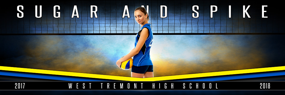 Fantasy Volleyball Panoramic Team Banner Template