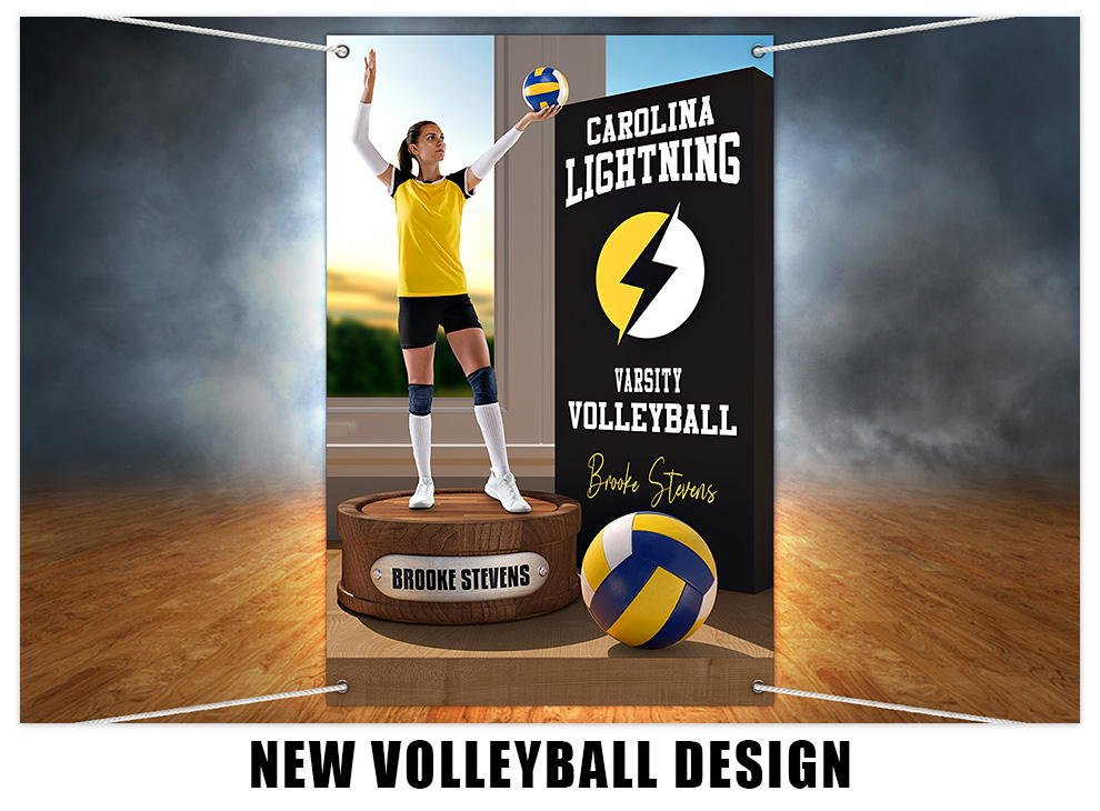 New Volleyball Photoshop Design Template