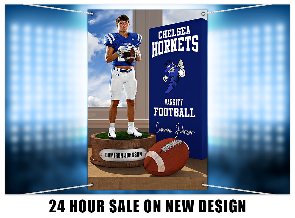 24 Hour Sale on New Football Design Template