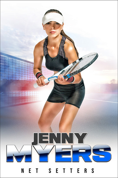 Player Banner Sports Photo Template Hi Key Tennis