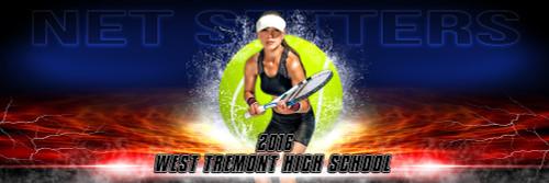 Panoramic Sports Team Banner Photo Template Splash Tennis