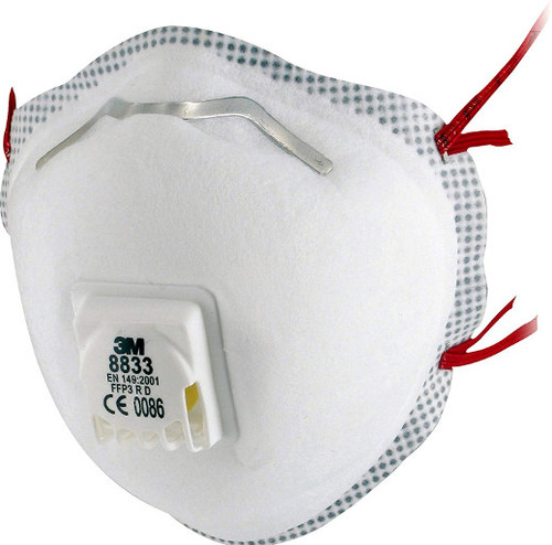 3M 8833 FFP3 Face Mask Respirator with FFP3 Protection