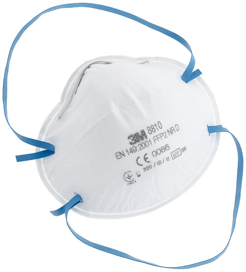 3M 8810 FFP2 Face Mask Respirator Non-Valved (Single Mask)