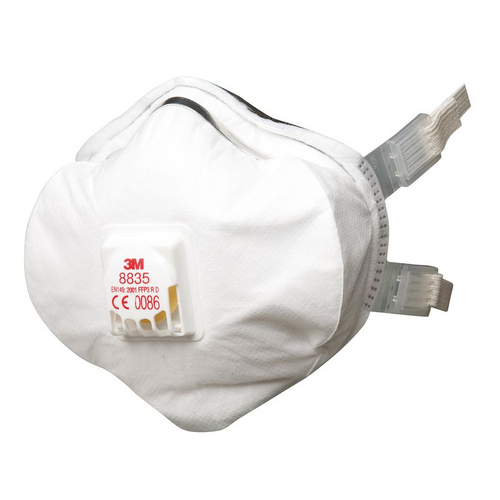 3M 8835  Face Mask Respirator, FFP3, Valved