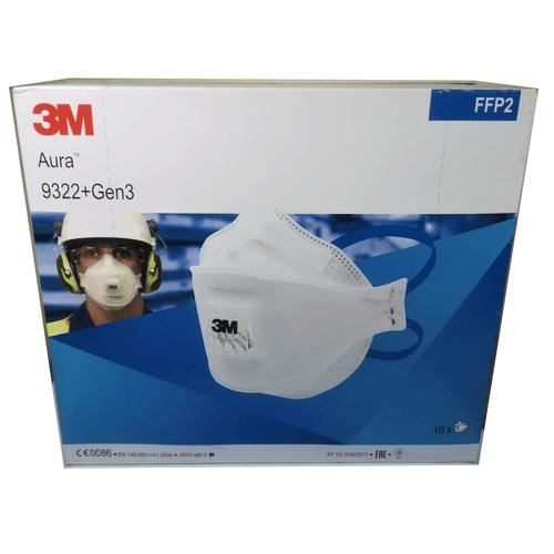 3M Aura 9322+ Gen3 FFP2 Respirator Face Mask (Box of 10)