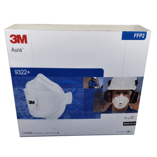 3M Aura 9322+ FFP2 Disposable Respirator (Box of 10)