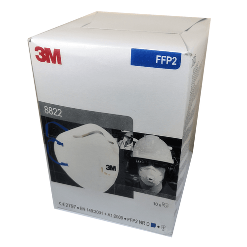 3M 8822 FFP2 Face Mask Valved Respirator Cup Shaped (Box of 10)