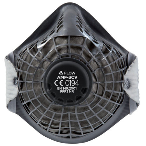 Alpha Solway Alpha Flow AMF-3CV Valved FFP3 Dust Mask (Pack of 10)