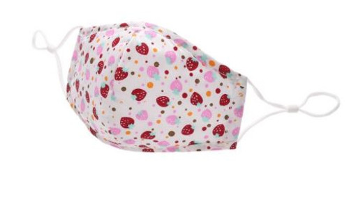 Childrens Face Mask Respirator with Strawberry Design