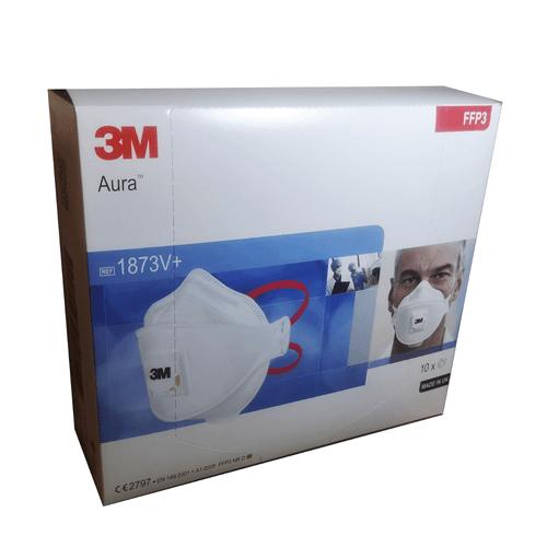 3M Aura 1873V+ FFP3 Respirator Face Mask with Valve (Box of 10)