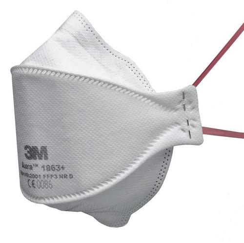 3M Aura 1863+ FFP3 Type IIR Unvalved Respirator Face Mask