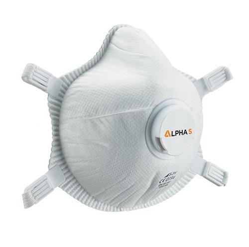 Alpha Solway S-3V Valved FFP3 Face Mask Respirator (Pack of Five)