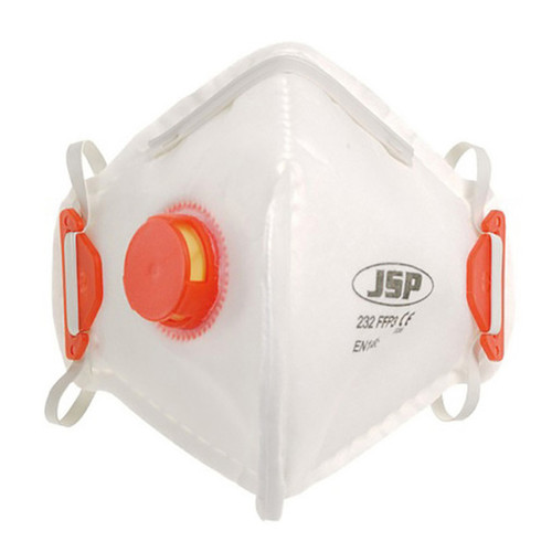 JSP Olympus 232 FFP3 Valved Fold Flat Disposable Masks (Box of 10) BEB130-101-A00