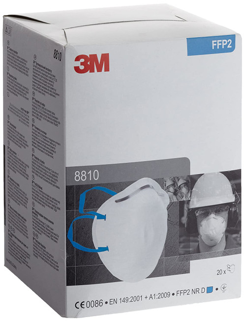 3M 8810 FFP2 Face Mask Respirator Unvalved (Box of 20)