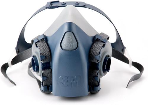 3M 7501 Half Mask Reusable Respirator - Small