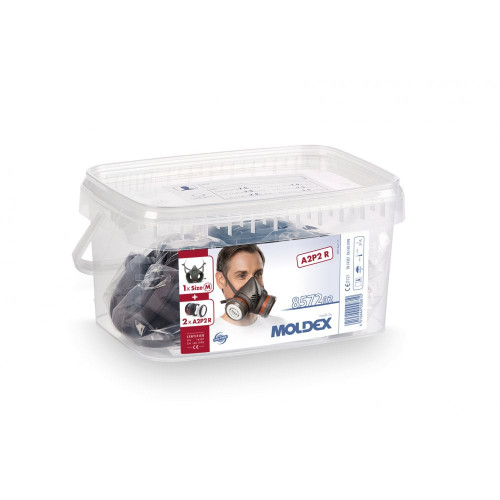 Moldex 8572 Pre-Assembled Medium Half Mask Reusable Respirator with Filters (A2P2 R)