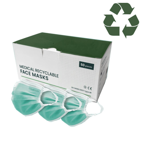 EcoBreathe Recyclable Face Masks Type IIR x 50