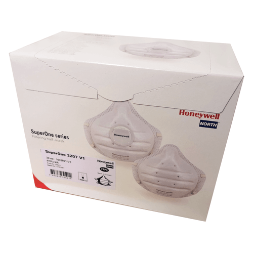 Honeywell SuperOne 3207 FFP3 Unvalved Face Mask Respirator - Box of 30
