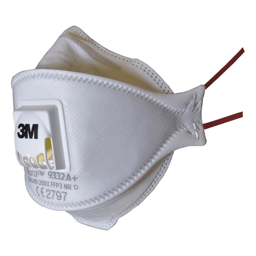 3M Aura 9332A+ FFP3 Valved Respirator Face Mask (Single Mask)