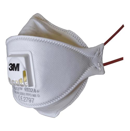 3M Aura 9332A+ FFP3 Valved Respirator Face Mask (Single Mask)