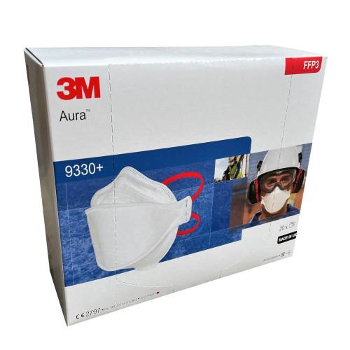 3M Aura 9330+ FFP3 Unvalved Respirator Box of 20