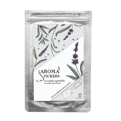 Aroma Face Mask Scented Stickers, Lavender from France 100% Essential Oil