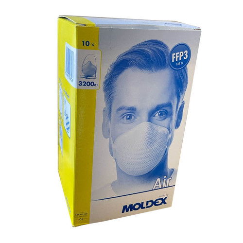 Moldex 3200 Air FFP3 Unvalved Face Mask - Box of 10 Respirators