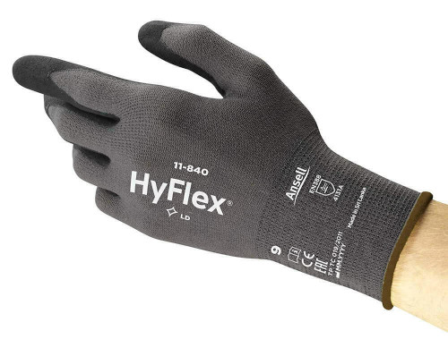 Ansell HyFlex 11-840 Nitrile-Coated Work Gloves  - Size 9 Large
