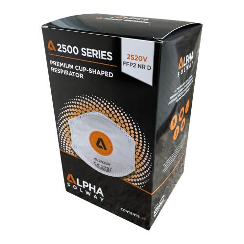 Alpha Solway 2520V FFP2 Valved Face Mask Respirator - Box of 20