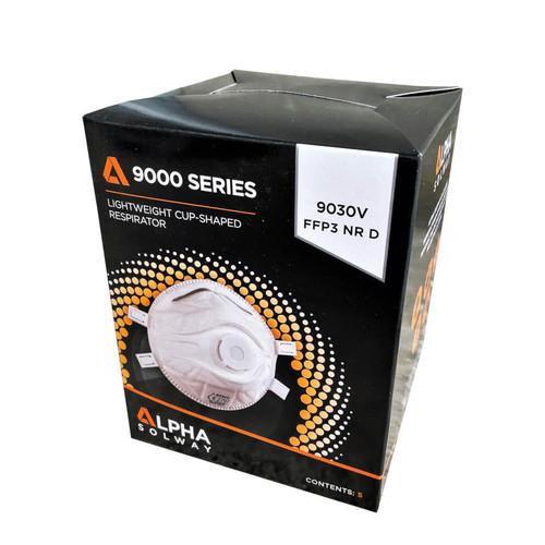 Alpha Solway 9030V FFP3 Valved Face Mask Respirator - Box of 5