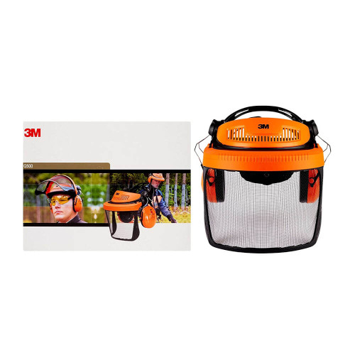 3M G500 Forestry Face Shield with Ear Defenders