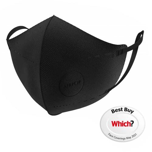 Airpop Pocket Reusable Face Mask Black - 4 Pack