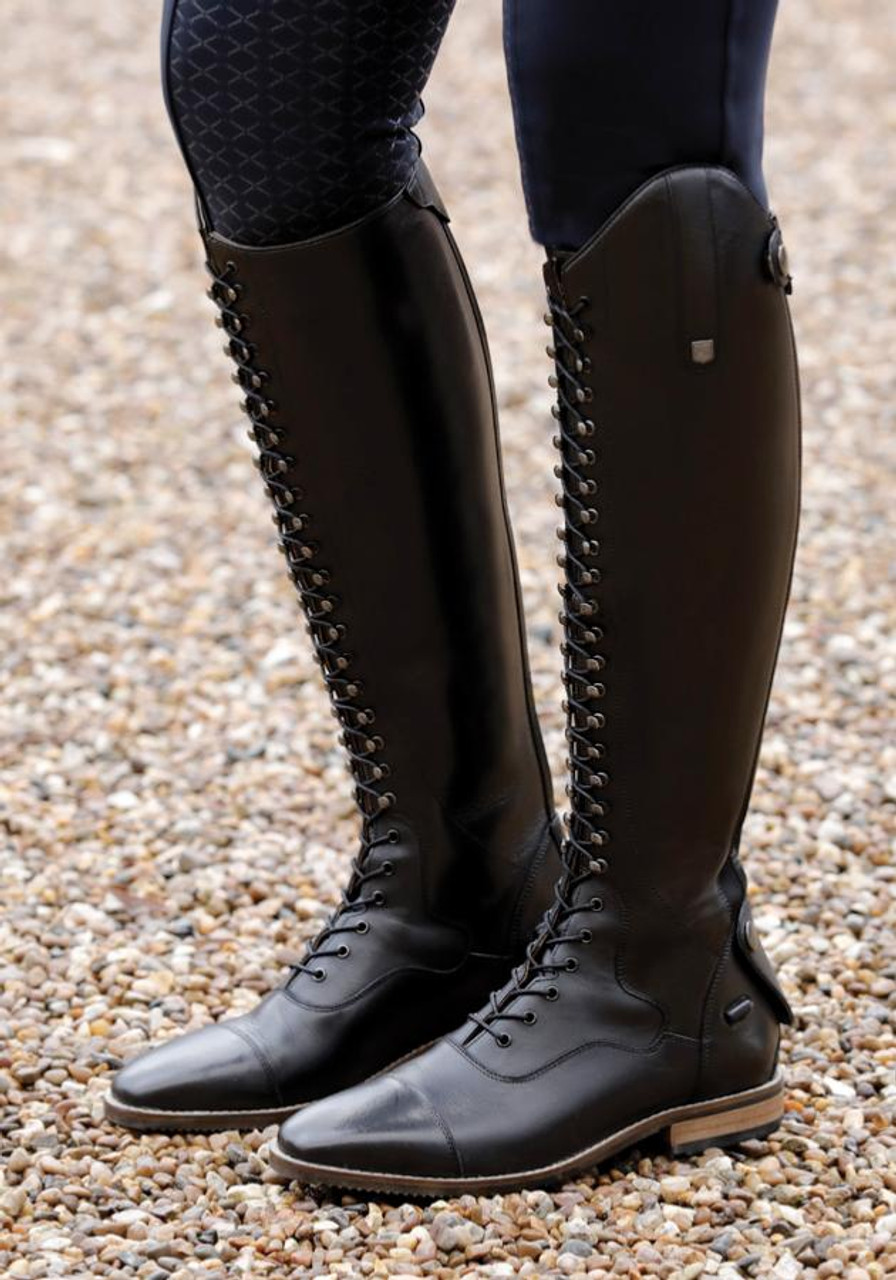 Maurizia Ladies Lace Front Tall Leather