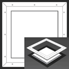 24 x 24 Pop-Out Square Corner - Access Panel for Ceilings Best Access Doors Canada