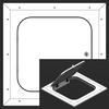 16 x 16 Hinged Radius Corner - Access Panel for Ceilings Best Access Doors Canada