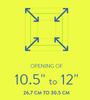 10.5 to 12 Adjustable Magnetic FlexiSnap Access Door - Pack of 4 Best Access Doors Canada