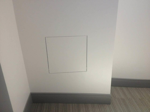 18 x 18 Drywall Inlay Air/Dust resistant Access Panel with detachable hatch Best Access Doors Canada
