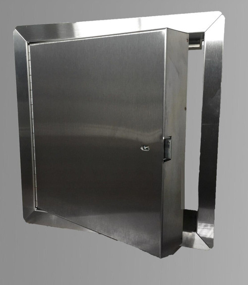 22 x 22 - Fire Rated Insulated Access Door with Flange - Stainless Steel Best Access Doors Canada