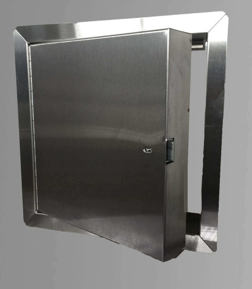 24 x 48 - Fire Rated Insulated Access Door with Flange - Stainless Steel Best Access Doors Canada