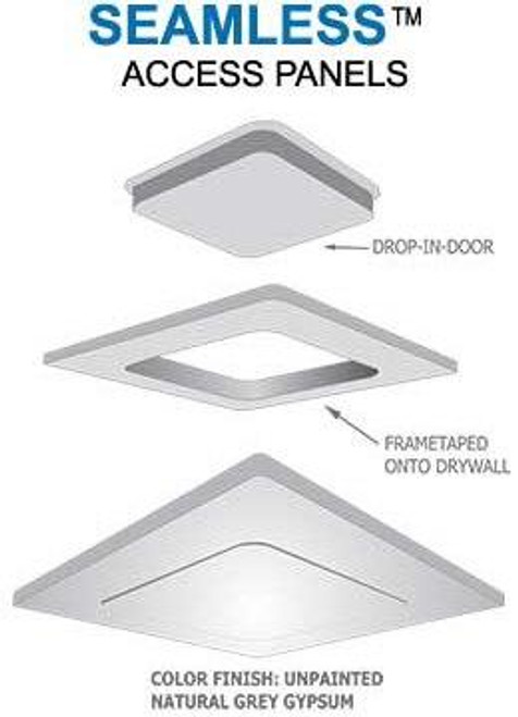 8 x 8 Pop-Out Radius Corner - Access Panel for Ceilings Best Access Doors Canada