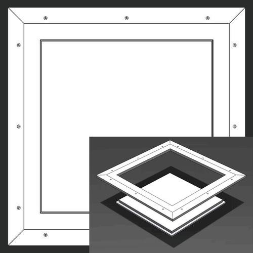 8 x 8 Pop-Out Square Corner - Access Panel for Ceilings Best Access Doors Canada